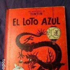 Cómics: TINTIN -EL LOTO AZUL -TERCERA EDICION DE 1970 LOMO DE TELA. Lote 157610030