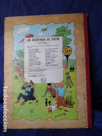 Cómics: TINTIN -EL LOTO AZUL -TERCERA EDICION DE 1970 LOMO DE TELA - Foto 2 - 157610030
