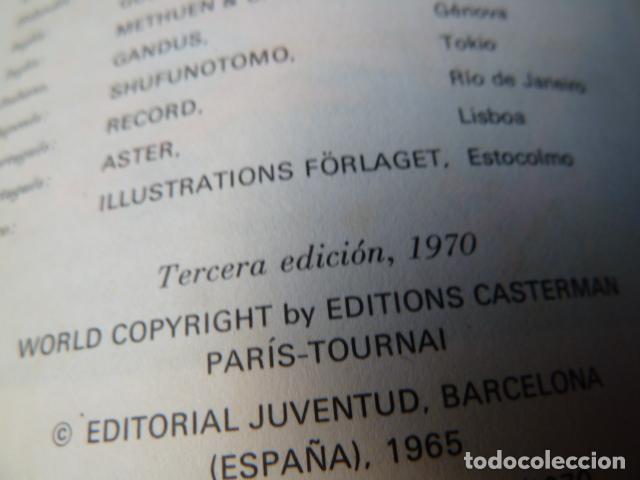 Cómics: TINTIN -EL LOTO AZUL -TERCERA EDICION DE 1970 LOMO DE TELA - Foto 4 - 157610030