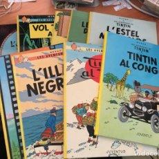 Cómics: TINTIN LOTE 8 EJEMPLARES CATALAN. DE LAS PRIMERAS EDICIONES. VER DESCRIPCIÓN (COIM23). Lote 158468034
