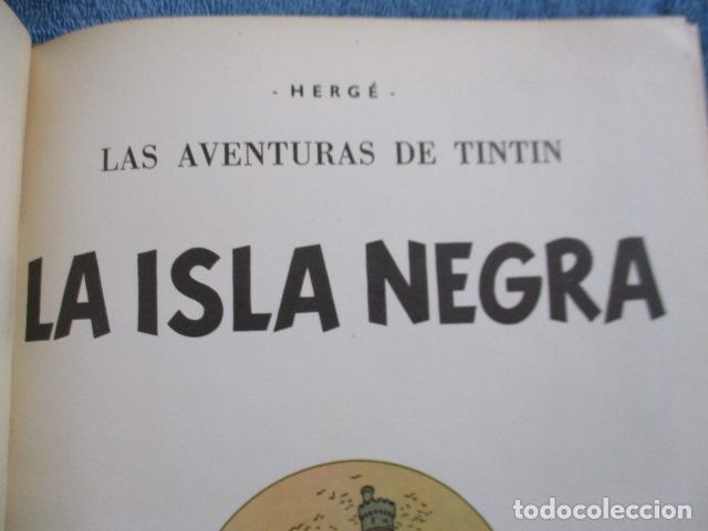 Cómics: Tintín la isla negra 2ª edición del año 1967 Idioma castellano - Foto 8 - 158606594