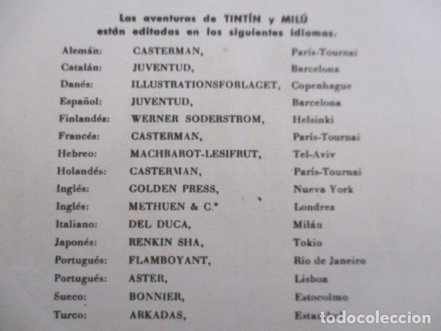 Cómics: Tintín la isla negra 2ª edición del año 1967 Idioma castellano - Foto 9 - 158606594