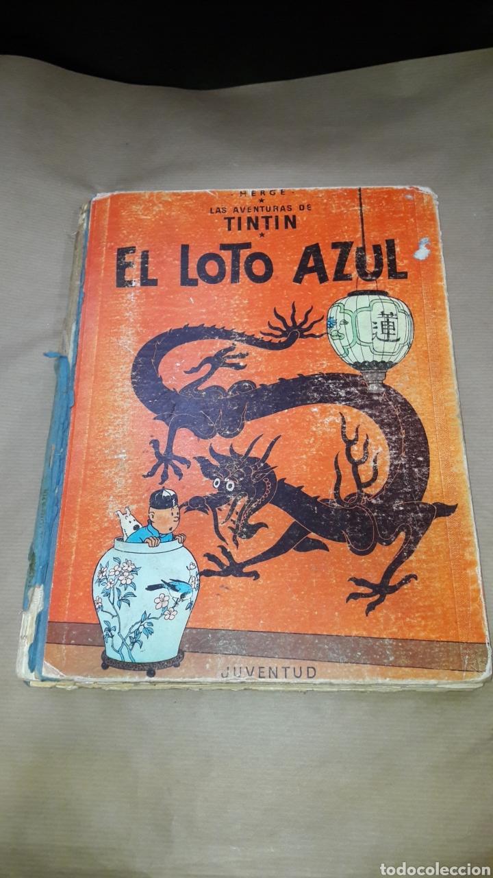TINTÍN EL LOTO AZUL LOMO TELA PRIMERA EDICIÓN 1965 (Tebeos y Comics - Juventud - Tintín)