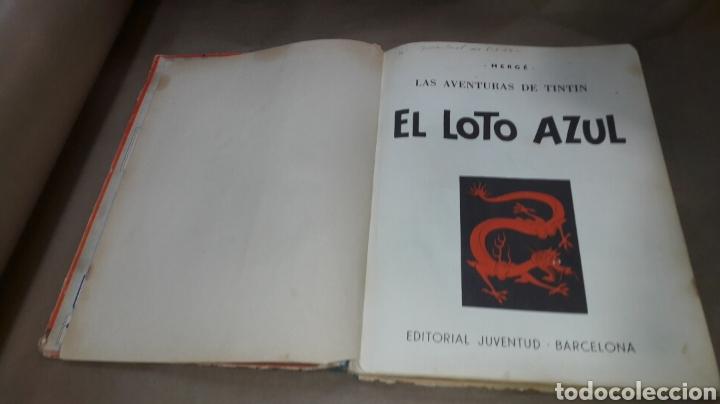 Cómics: TINTÍN EL LOTO AZUL LOMO TELA PRIMERA EDICIÓN 1965 - Foto 3 - 158717489