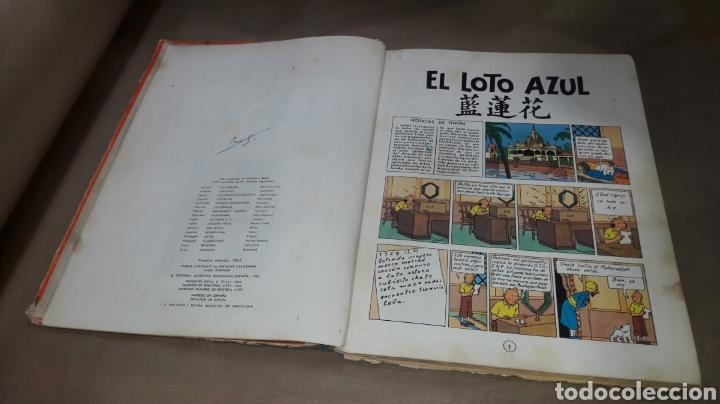 Cómics: TINTÍN EL LOTO AZUL LOMO TELA PRIMERA EDICIÓN 1965 - Foto 4 - 158717489