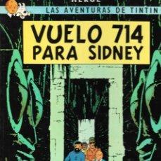 Cómics: VUELO 714 PARA SIDNEY - LAS AVENTURAS DE TINTÍN - HERGÉ - EDT. JUVENTUD, 10ª EDICIÓN, 1988.. Lote 158788654