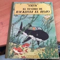 Cómics: TINTIN EL TESORO DE RACKHAM EL ROJO (ED. JUVENTUD) CUARTA EDICION 1967 (COIM23). Lote 159858598