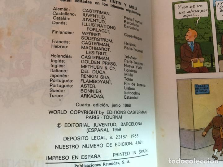 Cómics: TINTIN EL CETRO DE OTTOKAR (ED. JUVENTUD) CUARTA EDICION 1968 (COIM23) - Foto 3 - 159859866