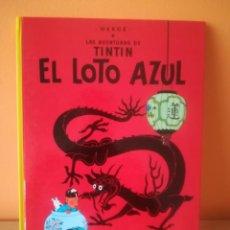 Fumetti: LAS AVENTURAS DE TINTIN.EL LOTO AZUL.EDITORIAL JUVENTUD EDICION 1990 . Lote 162018450