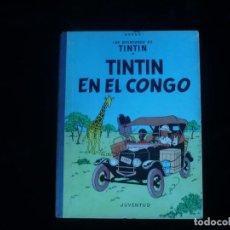 Comics : LAS AVENTURAS DE TINTIN JUVENTUD TINTIN EN EL CONGO HERGE 1ª EDICION DICIEMBRE 1968. Lote 162050746
