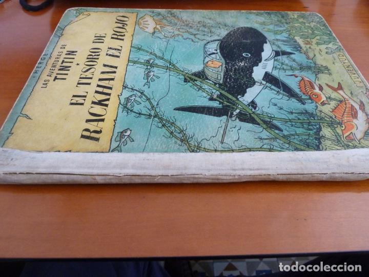 Cómics: el tesoro de rackham el rojo las aventuras de tintin ed juventud 1º primera edicion 1960 - Foto 2 - 163080390