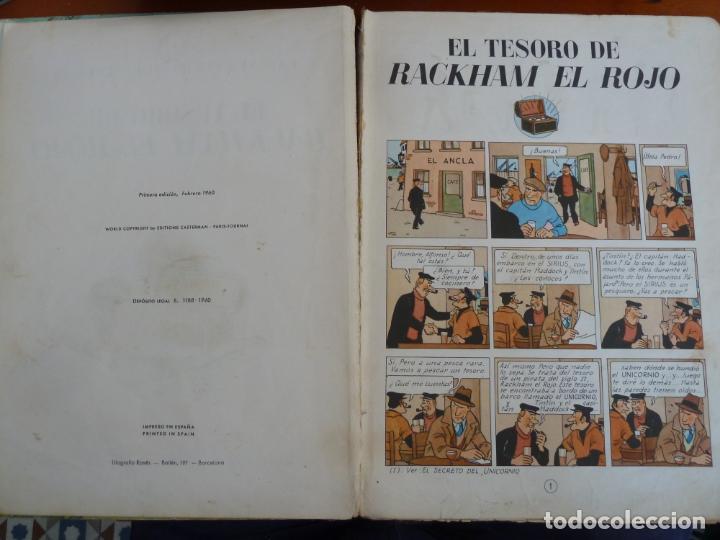 Cómics: el tesoro de rackham el rojo las aventuras de tintin ed juventud 1º primera edicion 1960 - Foto 4 - 163080390