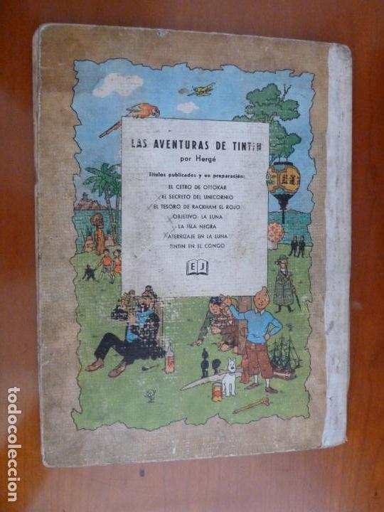 Cómics: el tesoro de rackham el rojo las aventuras de tintin ed juventud 1º primera edicion 1960 - Foto 6 - 163080390