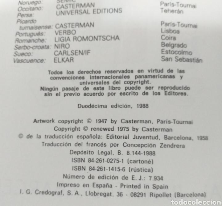 Cómics: TINTIN EL CETRO DE OTTOKAR - ED.JUVENTUD 1988 (TAPA DURA) - Foto 6 - 25958410