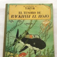 Cómics: TINTÍN. EL TESORO DE RACKHAM EL ROJO. CUARTA 4 EDICIÓN 1967. LOMO DE TELA. JUVENTUD.. Lote 163746530