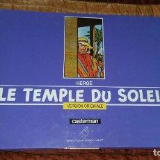 Cómics: HERGE TINTIN TEMPLE DU SOLEIL VERSION ORIGINALE CASTERMAN 1988 FRANCÉS. Lote 164585662