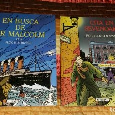 Cómics: 2 COMICS EN BUSCA DE SIR MALCOLM + CITA EN SEVENOAKS FLOCH RIVIERE 1991 CASTELLANO LEER DESCRIPCION. Lote 201363827