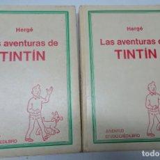 Cómics: LOTE DE 2 TOMOS LAS AVENTURAS DE TINTIN. HERGE. TOMOS 4- 5. EDITORIAL JUVENTUD , VER FOTOS. Lote 165037758