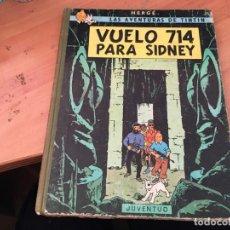 Cómics: TINTIN VUELO 714 PARA SIDNEY PRIMERA EDICION 1969 (COIB1). Lote 165400746