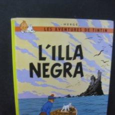Cómics: LES AVENTURES DE TINTIN. L'ILLA NEGRA EDITORIAL JOVENTUT 13ª EDICION 1999. Lote 165444338