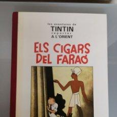 Cómics: RARO TINTÍN BLANCO Y NEGRO ELS CIGARS DEL FARAÓ JOVENTUD CATALA 1992. Lote 166141830