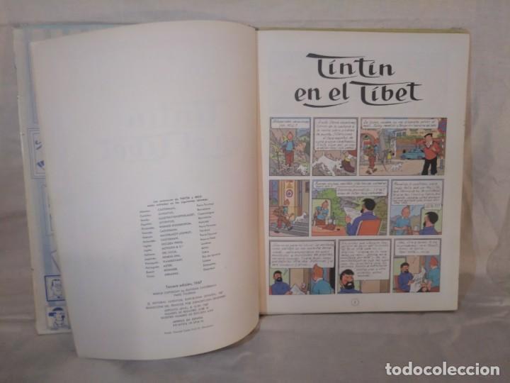 Cómics: LAS AVENTURAS DE TINTÍN.TINTÍN EN EL TÍBET.TERCERA EDICIÓN,1967 - Foto 6 - 166967064