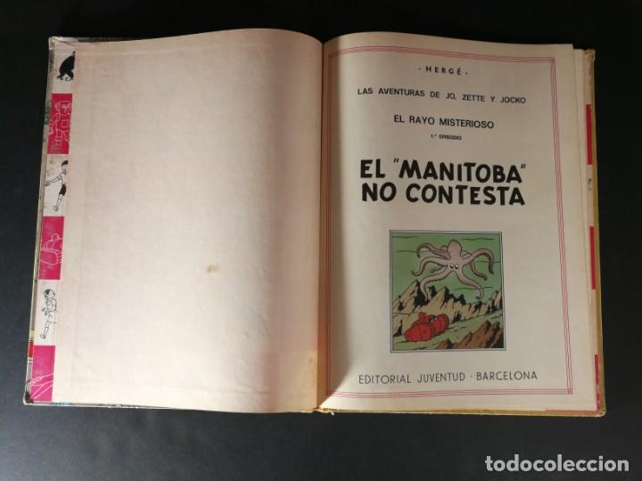 Cómics: TINTIN Hergé Las Aventuras de Jo Zette y Jocko El Manitoba No Contesta Juventud primera edición 1971 - Foto 3 - 168250449
