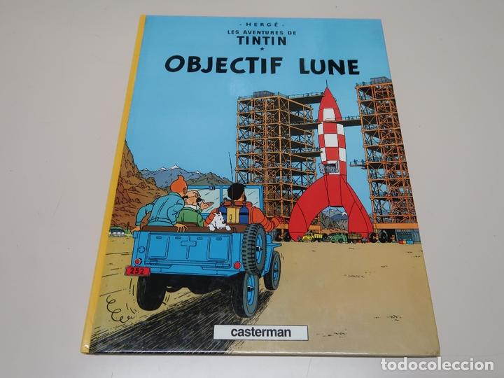 LES AVENTURES DE TINTIN. OBJECTIF LUNE. 1981 CASTERMAN (Tebeos y Comics - Juventud - Tintín)