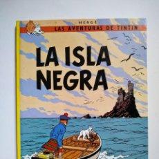 Cómics: LAS AVENTURAS DE TINTIN - LA ISLA NEGRA - HERGÉ - JUVENTUS 1990 DECIMOTERCERA EDICION. Lote 168480600