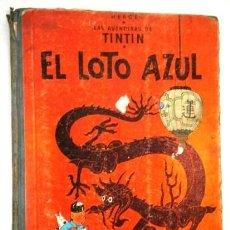 Cómics: EL LOTO AZUL (LAS AVENTURAS DE TINTÍN) POR HERGÉ DE ED. JUVENTUD EN BARCELONA 1965 PRIMERA EDICIÓN. Lote 169406884