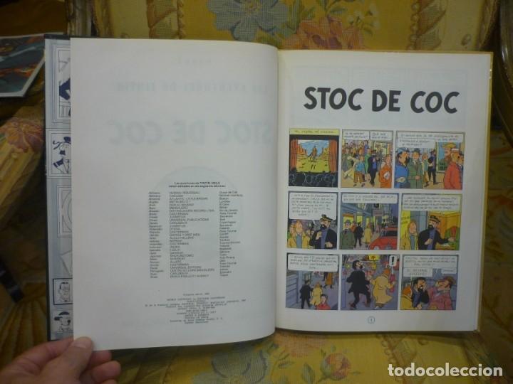Cómics: LES AVENTURES DE TINTIN: STOC DE COC, DE HERGÉ. JUVENTUT 1.982. TAPA DURA. - Foto 5 - 170217880