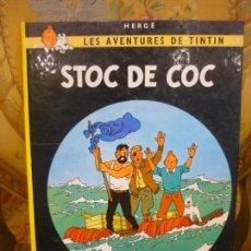 Cómics: LES AVENTURES DE TINTIN: STOC DE COC, DE HERGÉ. JUVENTUT 1.982. TAPA DURA.. Lote 170217880