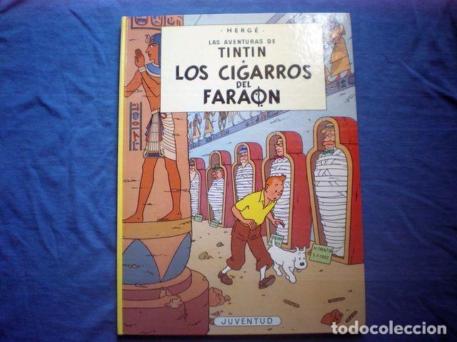 COMIC TINTIN ERROR LOS CIGARROS DEL FARAON - ATERRIZAJE EN LA LUNA 19ª ED 1997 HERGE TAPA DURA RARO (Tebeos y Comics - Juventud - Tintín)