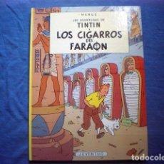Cómics: COMIC TINTIN ERROR LOS CIGARROS DEL FARAON - ATERRIZAJE EN LA LUNA 19ª ED 1997 HERGE TAPA DURA RARO. Lote 170407184