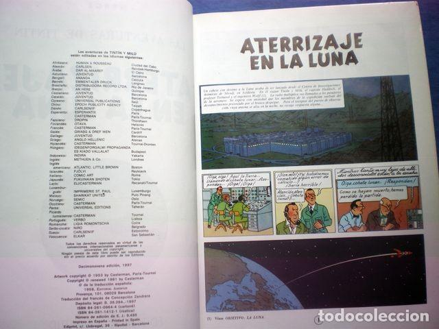 Cómics: COMIC TINTIN ERROR LOS CIGARROS DEL FARAON - ATERRIZAJE EN LA LUNA 19ª ED 1997 HERGE TAPA DURA RARO - Foto 2 - 170407184