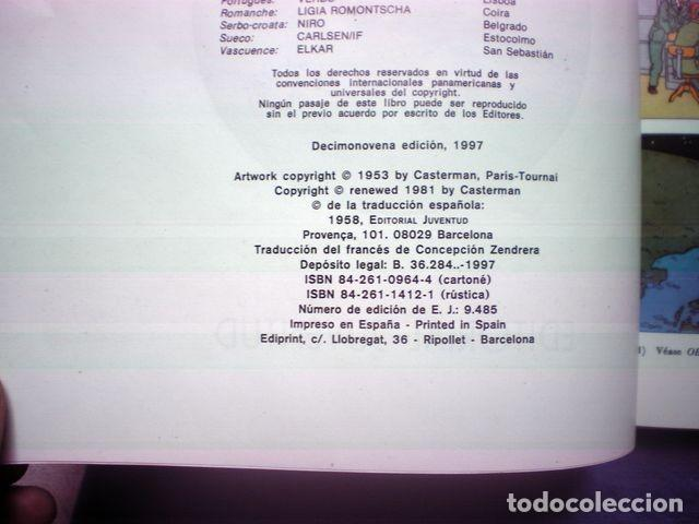 Cómics: COMIC TINTIN ERROR LOS CIGARROS DEL FARAON - ATERRIZAJE EN LA LUNA 19ª ED 1997 HERGE TAPA DURA RARO - Foto 3 - 170407184