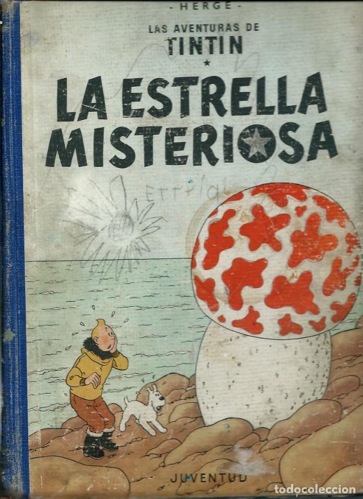 HERGE - TINTIN - LA ESTRELLA MISTERIOSA - JUVENTUD 1960 1ª EDICIÓN - SUFRIDO, VER DESCRIPCION (Tebeos y Comics - Juventud - Tintín)