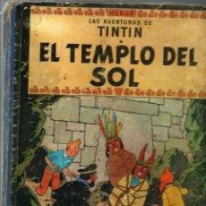 Cómics: HERGE - TINTIN - EL TEMPLO DEL SOL - JUVENTUD 1961 1ª EDICIÓN - SUFRIDO, VER DESCRIPCION. Lote 170884715