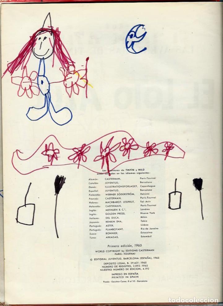 Cómics: HERGE - TINTIN - EL LOTO AZUL - JUVENTUD 1965 1ª EDICIÓN - IMPRENTA ROSES - VER DESCRIPCION - Foto 6 - 170976573