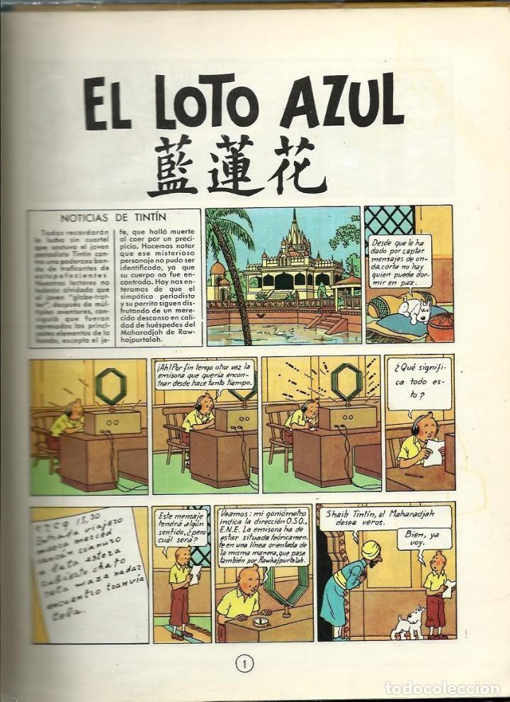 Cómics: HERGE - TINTIN - EL LOTO AZUL - JUVENTUD 1965 1ª EDICIÓN - IMPRENTA ROSES - VER DESCRIPCION - Foto 7 - 170976573