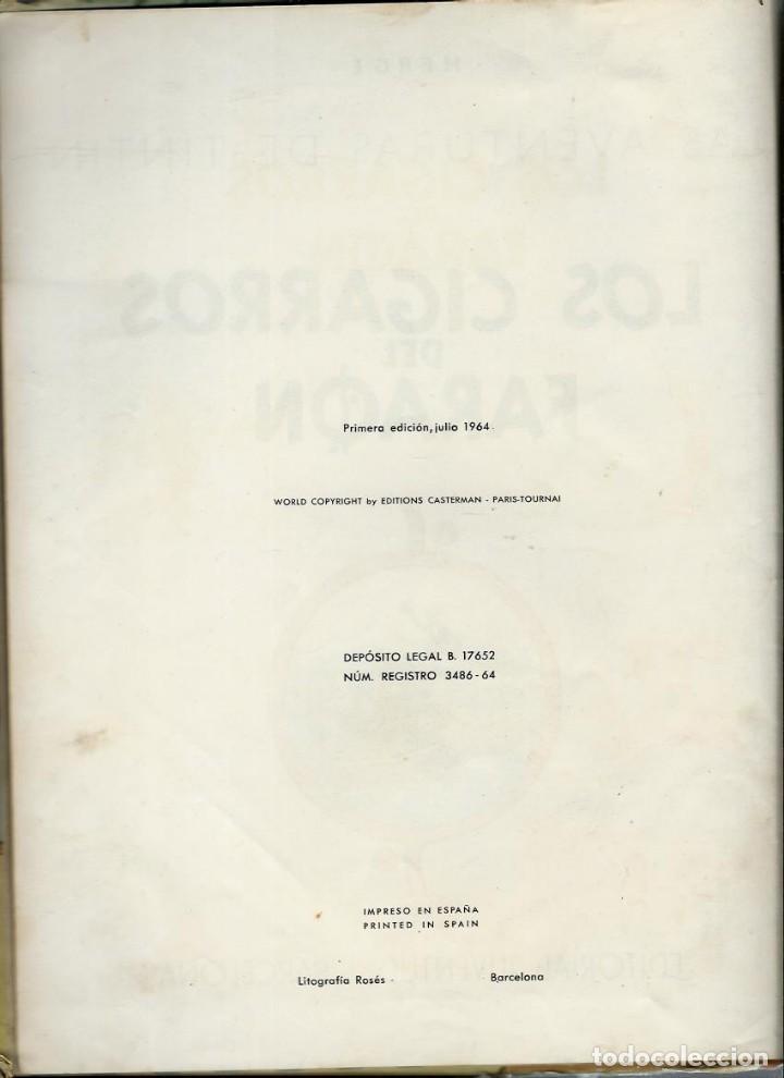 Cómics: HERGE - TINTIN - LOS CIGARROS DEL FARAON - JUVENTUD 1964 1ª EDICIÓN - VER DESCRIPCION - Foto 4 - 170976800