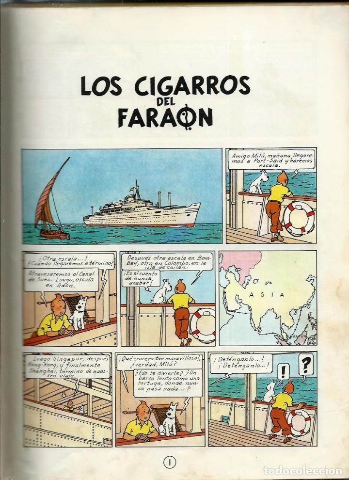 Cómics: HERGE - TINTIN - LOS CIGARROS DEL FARAON - JUVENTUD 1964 1ª EDICIÓN - VER DESCRIPCION - Foto 5 - 170976800