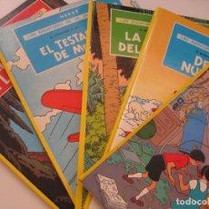 Cómics: HERGÉ--LAS AVENTURAS DE JO ZETTE Y JOCKO-TINTIN-COMPLETA 5 TOMOS--LOMO AMARILLO- JUVENTUD--NUEVOS. Lote 171353069