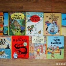 Cómics: LOTE 9 ÁLBUMS TINTIN (AMÉRICA, CIGARROS, LOTO, ISLA, CANGREJO, UNICORNIO, TÍBET, PÍCAROS, LAGO). Lote 171599253
