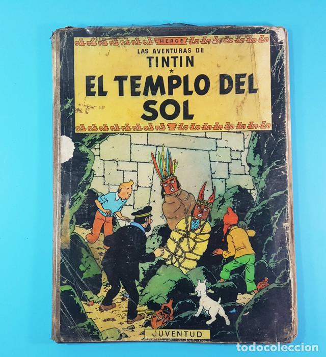 Cómics: LOTE 3 TOMOS TINTIN 2ª Y 3ª EDICION, EL CETRO DE OTOKAR, EL SECRETO DEL UNICORNIO,EL TEMPLO DEL SOL - Foto 2 - 172055497