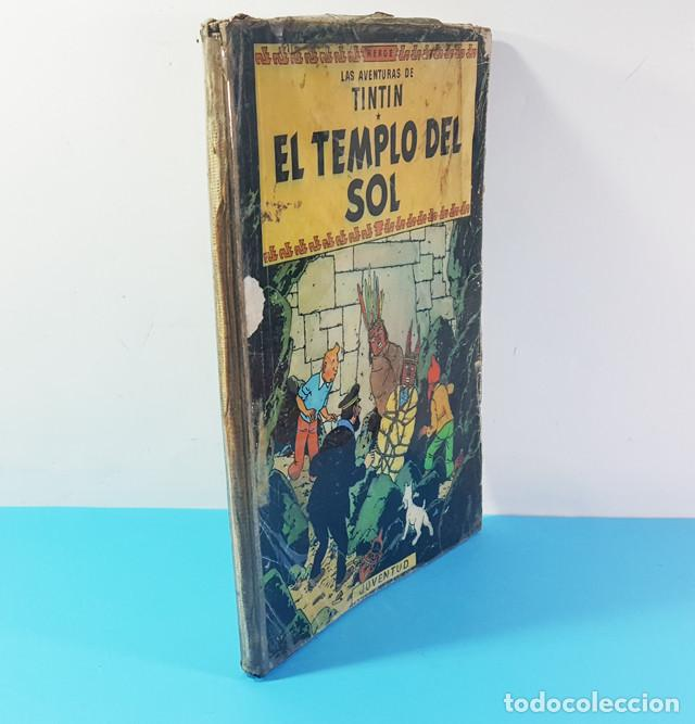 Cómics: LOTE 3 TOMOS TINTIN 2ª Y 3ª EDICION, EL CETRO DE OTOKAR, EL SECRETO DEL UNICORNIO,EL TEMPLO DEL SOL - Foto 3 - 172055497