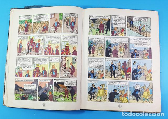 Cómics: LOTE 3 TOMOS TINTIN 2ª Y 3ª EDICION, EL CETRO DE OTOKAR, EL SECRETO DEL UNICORNIO,EL TEMPLO DEL SOL - Foto 5 - 172055497