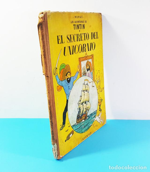 Cómics: LOTE 3 TOMOS TINTIN 2ª Y 3ª EDICION, EL CETRO DE OTOKAR, EL SECRETO DEL UNICORNIO,EL TEMPLO DEL SOL - Foto 7 - 172055497