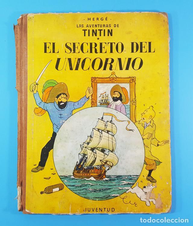 Cómics: LOTE 3 TOMOS TINTIN 2ª Y 3ª EDICION, EL CETRO DE OTOKAR, EL SECRETO DEL UNICORNIO,EL TEMPLO DEL SOL - Foto 8 - 172055497