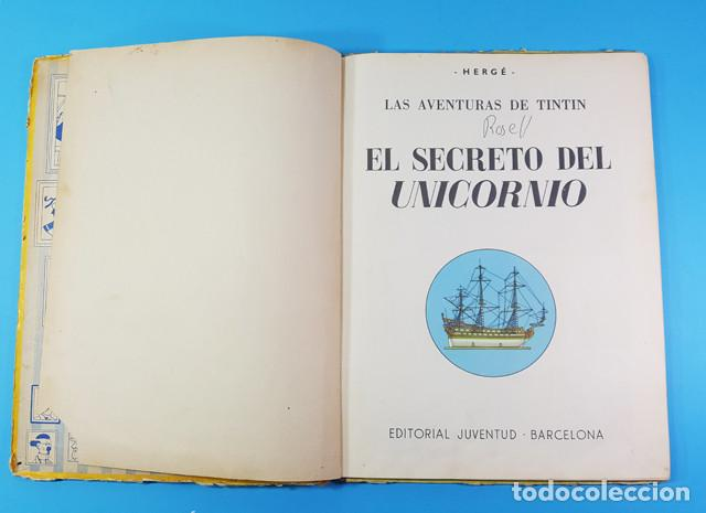Cómics: LOTE 3 TOMOS TINTIN 2ª Y 3ª EDICION, EL CETRO DE OTOKAR, EL SECRETO DEL UNICORNIO,EL TEMPLO DEL SOL - Foto 9 - 172055497